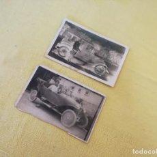 Postales: LOTE DE 2 ANTIGUAS TARJETAS POSTALES CON COCHES, EN B/N. Lote 205682216