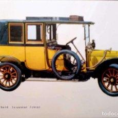Postales: COCHE DE ÉPOCA: PANHARD LEVASEUR (1910). USADA CON SELLO. COLOR. Lote 206243898