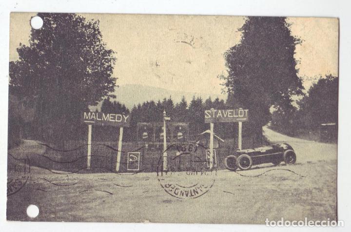 1925 - GRAN PREMIO DE EUROPA(CIRCUITO DE SPA) - ALFA ROMEO - ASCARI SOBRE SU ALFA ROMEO (Postales - Postales Temáticas - Coches y Automóviles)