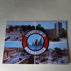 Postales: RECUERDO CARTAGENA MURCIA AUTOBUSES EPOCA. Lote 206800765