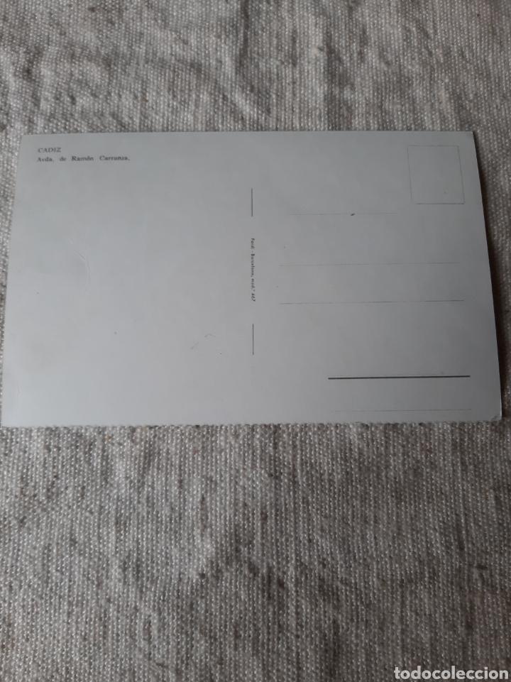 Postales: CADIZ AVDA RAMON CARRABZA AUTOBUSES ÉPOCA - Foto 2 - 206955292