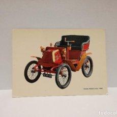 Postales: POSTAL Nº C-2 - COCHE, AUTOMOVIL, GEORGES RICHARD 3,5 H.P. 1900 - ED. CAJA DE PENSIONES 1970. Lote 210228465