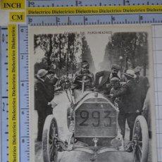 Postales: POSTAL DE COCHES MOTOS. FACSÍMIL. CARRERA DE LA MUERTE COCHES PARIS A MADRID. MERCEDES 60CV. 969. Lote 210255350