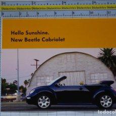 Postales: POSTAL DE COCHES MOTOS. VOLKSWAGEN BEETLE CABRIOLET. ESCARABAJO DESCAPOTABLE. KÄFER. 972. Lote 210255470