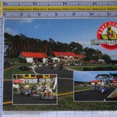 Postales: POSTAL DE COCHES MOTOS. KARTS KARTING KART CENTER WALDOW. 1650. Lote 210425890