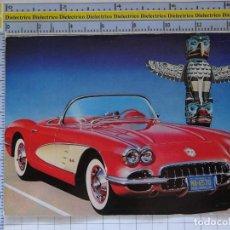 Postales: POSTAL DE COCHES MOTOS. CHEVROLET CORVETTE 1958 . 0. Lote 210426398
