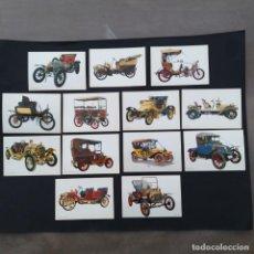Postales: LOTE 13 POSTALES COCHES DE ÉPOCA (P203). Lote 210596961