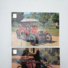 Postales: COCHES DE ÉPOCA, 2 POST. PHILOS 1914, ROCHET FRERES 1898. COMERCIAL ESCUDO DE ORO. Lote 212410266
