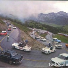 Postales: POSTAL ENCAMP CICLISMO TOUR DE FRANCE COCHES ANTIGUOS CITROEN PEUGEOT 1964 ANDORRA. Lote 212932416