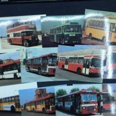 Postales: LOTE 11 POSTALES DE AUTOBUSES DE BARCELONA. SIN CIRCULAR. MUY BUEN ESTADO.. Lote 213899638