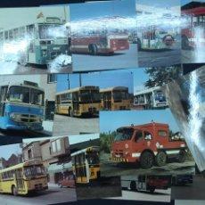 Postales: LOTE 14 POSTALES DE AUTOBUSES DE BARCELONA. SIN CIRCULAR. MUY BUEN ESTADO.. Lote 213899752