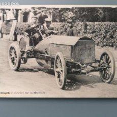 Postales: POSTAL DEPORTES AUTOMOVILISMO BRAUN AUTRICHE SUR MERCEDES EDIC VCD CIRCULADA 1906. Lote 215195413