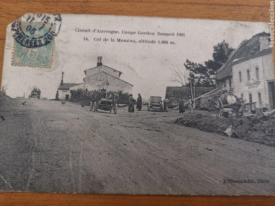 Postales: Postal de Auvergne, copa Gordon Bennett 1905. Francia Rally coches. Nº14 Col Moreno - Foto 2 - 215994228