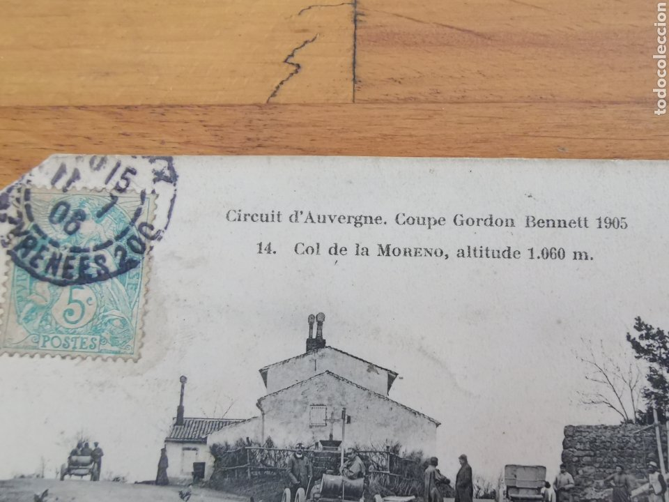 Postales: Postal de Auvergne, copa Gordon Bennett 1905. Francia Rally coches. Nº14 Col Moreno - Foto 3 - 215994228