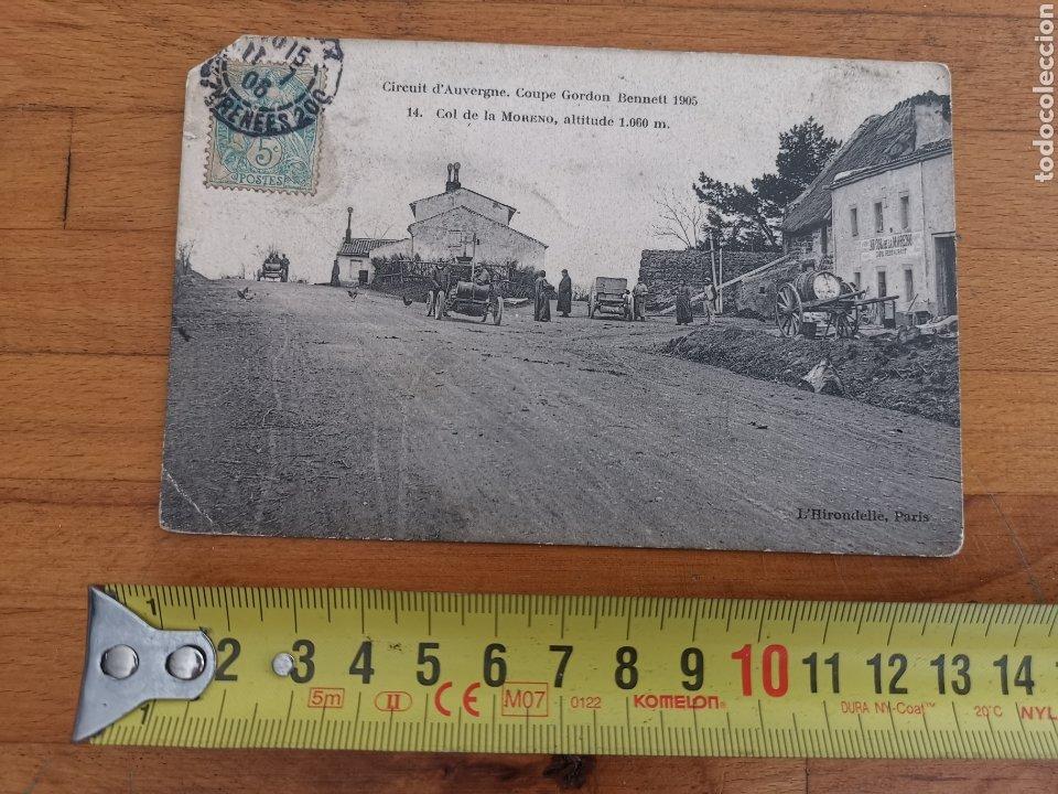 POSTAL DE AUVERGNE, COPA GORDON BENNETT 1905. FRANCIA RALLY COCHES. Nº14 COL MORENO (Postales - Postales Temáticas - Coches y Automóviles)