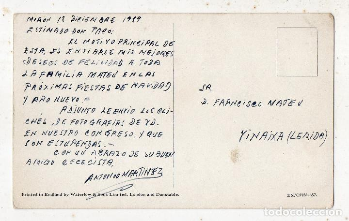 Postales: Postal antigua de coche. Escrita en 1959. - Foto 2 - 216589445