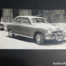 Postales: MADRID AUTOMOVIL SEAT 1400 FOTOGRAFIA TAMAÑO POSTAL 1959. Lote 216967163