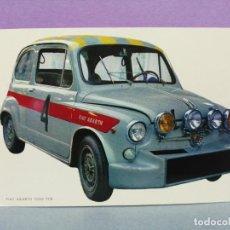 Postales: POSTAL COCHE FIAT ABARTH 1000 TCR. Lote 217413496