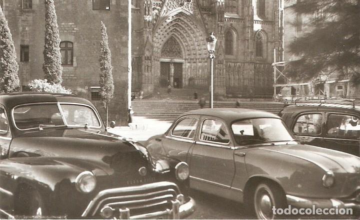 BARCELONA Nº86 LA CATEDRAL SOBERANA COCHES S.C. (Postales - Postales Temáticas - Coches y Automóviles)