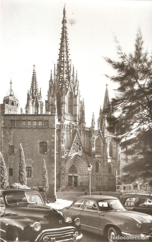 Postales: BARCELONA Nº86 LA CATEDRAL SOBERANA COCHES S.C. - Foto 2 - 218475980