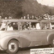 Postales: LOURDES , AUTOBUS LINEA LOURDES - ESPAGNE EN 1949 S.C.. Lote 218481703