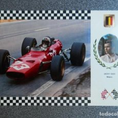 Postales: AUTOMOVIL CARRERAS FERRARI F. 2 Y JACKY ICKX POSTAL ANTIGUA. Lote 218498486