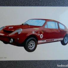 Postales: AUTOMOVIL CARRERAS MARCOS 1000 POSTAL ANTIGUA. Lote 218498566