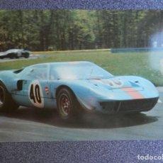 Postales: AUTOMOVIL CARRERAS FORD GT 40 POSTAL ANTIGUA. Lote 218498655