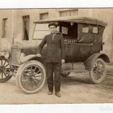 Postales: UN POMPOSO FORD T DE 1920, BARCELONA. Lote 219855180