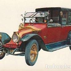 Postales: ANTIGUA POSTAL DIBUJO DEL AUTOMÓVIL 1909 RENAULT SEGUNDA MITAD DE LOS SESENTA.. Lote 221577941