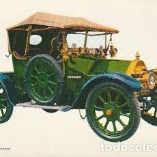 Postales: ANTIGUA POSTAL DIBUJO DEL AUTOMÓVIL BELZISE 1912. SEGUNDA MITAD DE LOS SESENTA.. Lote 221579125