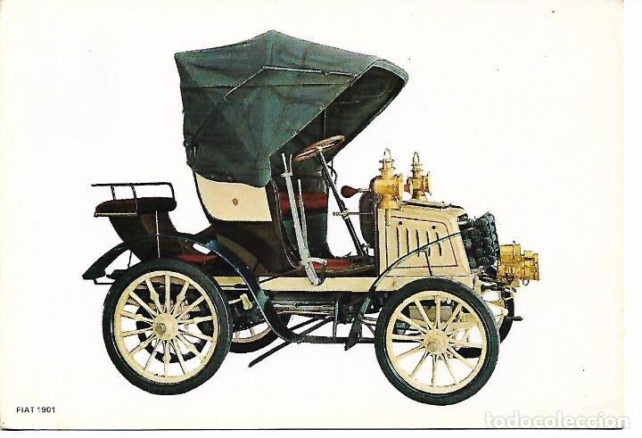 POSTAL COCHE ANTIGUO FIAT 1901 (Postales - Postales Temáticas - Coches y Automóviles)