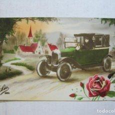 Postales: COCHE ANTIGUO-POSTAL FOTOGRAFICA ANTIGUA-VER FOTOS-(75.333). Lote 222835712