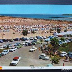 Postales: FUENTERRABIA - HONDARRIBIA GUIPÚZCOA POSTAL ORIGINAL COLOR - SEAT 600 1500 850 DAUPHINE MORRIS. Lote 223910833