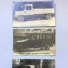 Postales: ANTIGUAS POSTALES CON CAMIONES Y AUTOBUSES ALEMANES - BUSSING AG (MAN AG) - SIN CIRCULAR. Lote 224975437