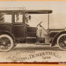 Postales: AUTOMOVILES COTTIN & DESGOUTTES - LYON- SALON DE PARIS 1907. Lote 227849925