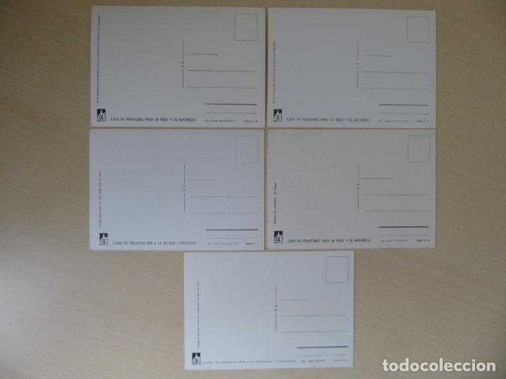 Postales: Lote de 5 postales de automóviles antiguos - Caja de Pensiones para la Vejez y de Ahorros (la Caixa) - Foto 2 - 227874341