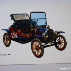 Postales: POSTAL - AUTOMÓBIL 'FORD TIPO T', DE 1909 - CAJA DE PENSIONES PARA LA VEJEZ Y DE AHORROS C-7. Lote 227874356