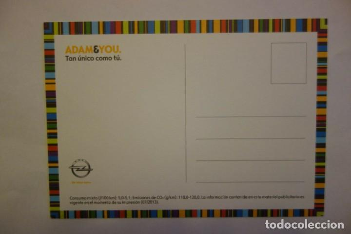 Postales: Tarjeta Postal coche Opel Adam & You Tan unico como tu postcard coleccionismo - Foto 2 - 228039065