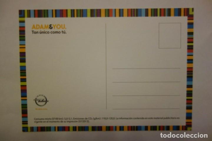 Postales: Tarjeta Postal coche Opel Adam & You Tan lanzado como tu postcard coleccionismo - Foto 2 - 228039170