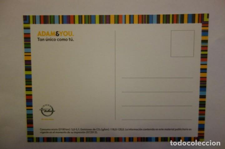 Postales: Tarjeta Postal coche Opel Adam & You Tan lanzado como tu postcard coleccionismo - Foto 2 - 228039315
