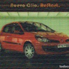 Postales: CLIO DE RENAULT (ES TRIDIMENSIONAL, AL MOVERSE CAMBIA LA IMAGEN). Lote 230695580