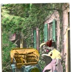Postales: PAREJA AUTOMOVILISTA, COCHE 1909. CON BREVE PAREADO, MP MADRID. Lote 232705185