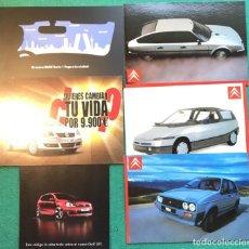 Postales: 6 POSTALES COCHES. CITROEN, BMW, WOLSKWAGEN. AUTOMÓVILES. Lote 232971995