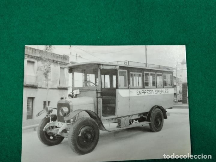 POSTAL Nº 4.150 AUTOMNIBUS DE LA EMPRES SAGALES. HISPANO SUIZA. AUTOBUS. CALDAS DE MONTBUY 1908 (Postales - Postales Temáticas - Coches y Automóviles)