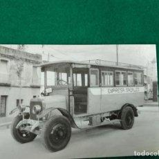 Postales: POSTAL Nº 4.150 AUTOMNIBUS DE LA EMPRES SAGALES. HISPANO SUIZA. AUTOBUS. CALDAS DE MONTBUY 1908. Lote 233806255