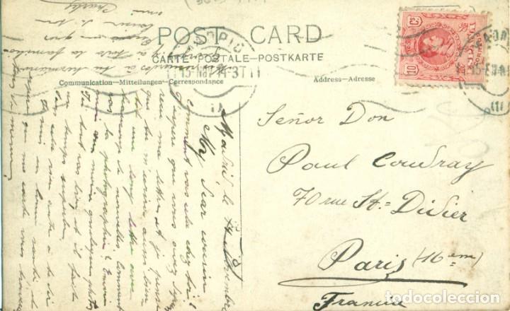 Postales: MADRID. FOTOGRAFICA. DOS COCHES EN EL TALLER. CIRCULADA EN 1914.MUY RARA. - Foto 2 - 233918460