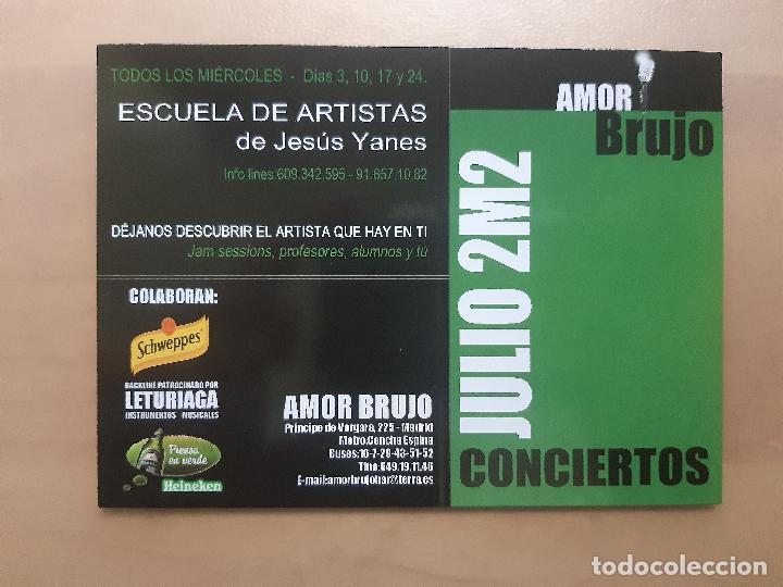 FLYER INVITACION DESCUENTO ENTRADA DISCOTECA SALA AMOR BRUJO 2002 MADRID (Postales - Postales Temáticas - Coches y Automóviles)