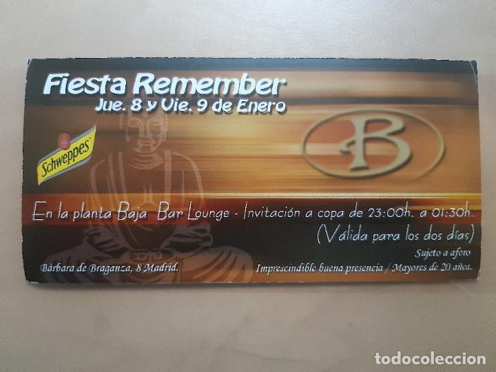 FLYER INVITACION DESCUENTO ENTRADA DISCOTECA SALA BRAGANZA MADRID (Postales - Postales Temáticas - Coches y Automóviles)