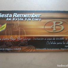 Postales: FLYER INVITACION DESCUENTO ENTRADA DISCOTECA SALA BRAGANZA MADRID. Lote 234059335